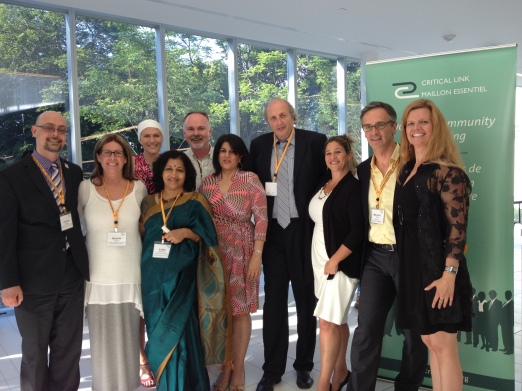 From left to right: Dr. Andrew Clifford, Bonnie Heath, me (bald), Latha Sukumar, Campbell McDermid, Kiran Malli, Jiri Adler, Angela Sasso, Dr. Marco Fiola, Jane Langes
