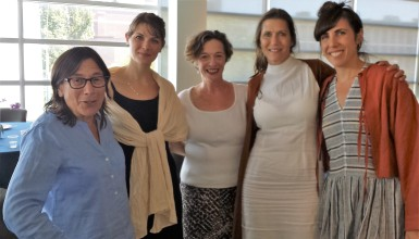 Rabbi Aviva Goldberg, Emily Parkinson, Harriet Eisenkraft and Daniela Gesundheit (of Snowblink)